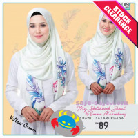 Emma Maembong Long Shawl Fatamorgana - Yellow Cream