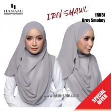 Hanami Long Shawl IRIN - Grey Smoke
