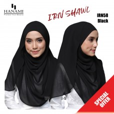 Hanami Long Shawl IRIN - Black