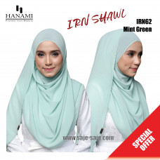 Hanami Long Shawl IRIN - Mint Green