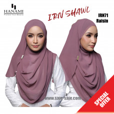 Hanami Long Shawl IRIN - Raisin