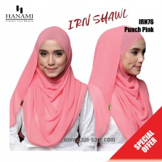 Hanami Long Shawl IRIN - Punch Pink