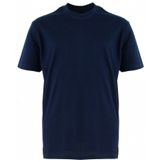 T-Shirt Cotton Round Neck Short Sleeve - Blue Navy