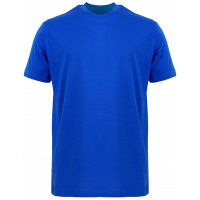 T-Shirt Cotton Round Neck Short Sleeve - Blue Royal