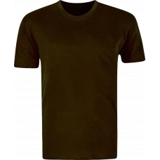 T-Shirt Cotton Round Neck Short Sleeve - Chocolate