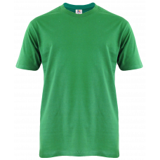 T-Shirt Cotton Round Neck Short Sleeve - Green Kelly