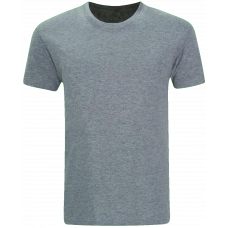T-Shirt Cotton Round Neck Short Sleeve - Melange Grey
