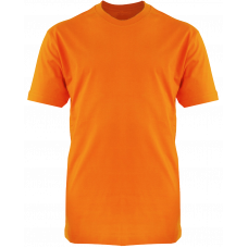 T-Shirt Cotton Round Neck Short Sleeve - Orange