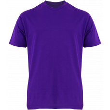 T-Shirt Cotton Round Neck Short Sleeve - Purple