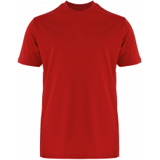 T-Shirt Cotton Round Neck Short Sleeve - Red