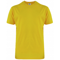 T-Shirt Cotton Round Neck Short Sleeve - Yellow