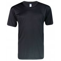 T-Shirt Microfiber Round Neck Short Sleeve - Black