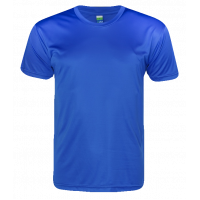 T-Shirt Microfiber Round Neck Short Sleeve - Blue Royal