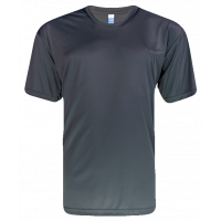T-Shirt Microfiber Round Neck Short Sleeve - Charcoal
