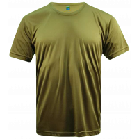 T-Shirt Microfiber Round Neck Short Sleeve - Khaki