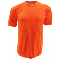 T-Shirt Microfiber Round Neck Short Sleeve - Orange Neon