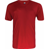 T-Shirt Microfiber Round Neck Short Sleeve - Red