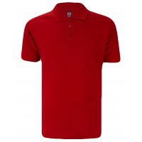 T-Shirt Polo Short Sleeve - Cotton Red