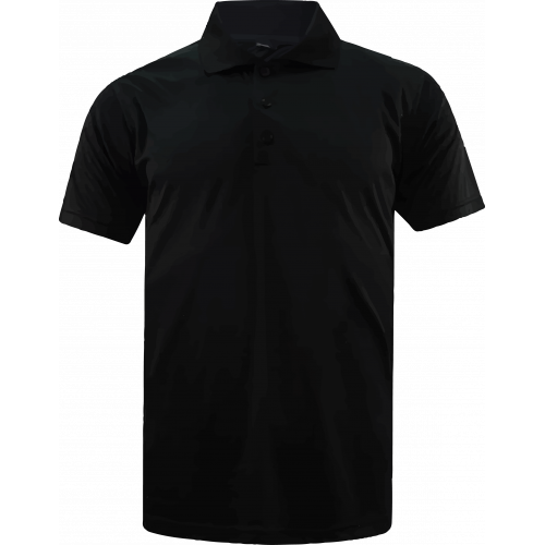 T-Shirt Polo Short Sleeve - Microfiber Black