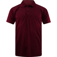 T-Shirt Polo Short Sleeve - Microfiber Burgundy